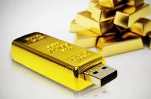 USB Lingote de oro. 16 o 32 GB